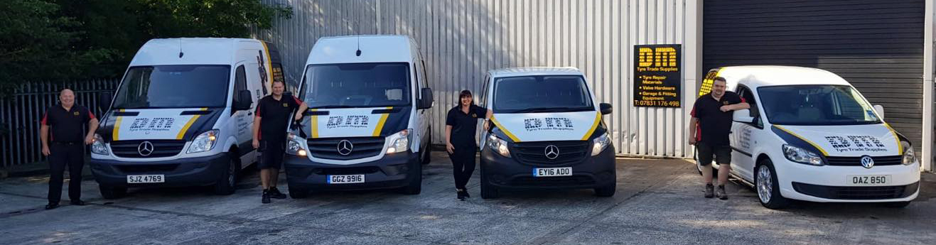 Dm Supplies (Ni) Ltd fleet of vans